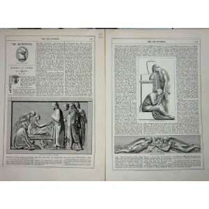 1867 ART JOURNAL FLAXMAN JAIRUS DAUGHTER HESTON CHURCH