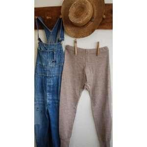 Mens Vintage Brown Wool Long Johns