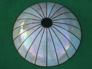 LEADED GLASS LIGHTING WHITE RAINBOW IRIDESCENT CEILING LIGHT LAMP