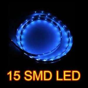 Blue 30cm 15 SMD LED Flexible Strip Car Van Light Lamp