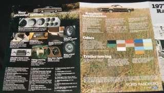 FORD RANCHERO AUTOMOBILE ADVERTSING SALES BROCHURE GUIDE 1977 VINTAGE