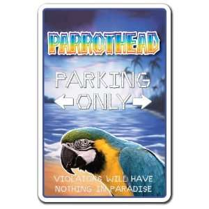 PARROTHEAD Sign parrot head parking key west gift