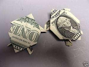 Hawaiian Money Dollar Origami Fold Turtle Monetary Gift