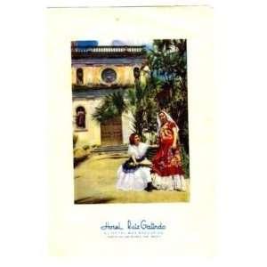 Hotel Ruiz Galindo Menu Fortin De Las Flores MX 1955