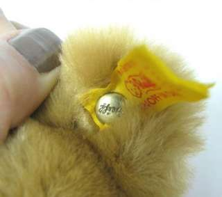 OLD LOVELY GERMAN STEIFF PLUSH BEAR TOY BUTTON TAG x