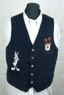 BUGS BUNNY & TAZMANIAN DEVIL Warner Bros Vest size XL