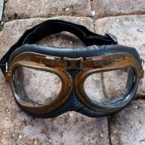 Steampunk Goggles Glasses lens Victorian biker pirate Aviator