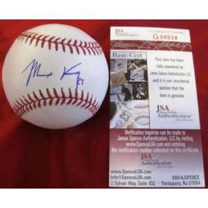 Matt Kemp Signed Ball   Official M l W jsa   Autographed