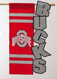 Garden Applique Flag, Ohio State University,16S973