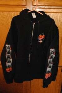 Harley Davidson Santa Cruz Black Hoodie Size Mens 2XL