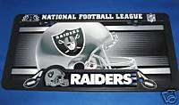 OAKLAND RAIDERS CAR AUTO LICENSE PLATE TAG & LICENSE FRAME COMBO NFL