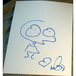 Moby Signed Autograph Original Rare Alien Sketch Art