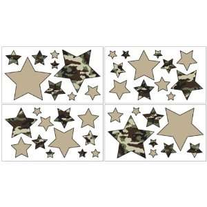 Camo Green Wall Decals   Set of 4 Sheets Baby