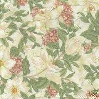 YDS Northcott Bella Floral QUILT FABRIC in Creams