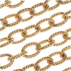 Nunn Design Antiqued Gold Plated Textured Cable Chain By