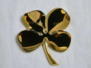 24 KT. GOLD PLATED GERITY 4 LEAF CLOVER GIFT