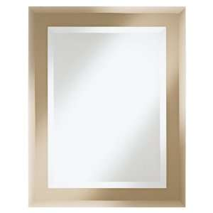 Bronze and Silver Two Tier Rectangle Wall Mirror