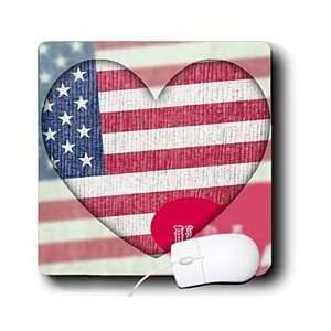 Patricia Sanders Creations   Heart Love USA Flag Art