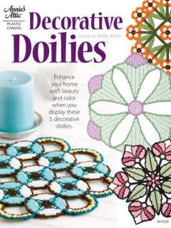 , Plastic Canvas Pattern Book, 5 COLORFUL DOILIES, New Book