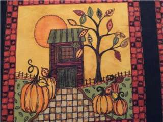 New Fall Harvest Moon Fabric Panel 23 Autumn Thanksgiving Pumpkin