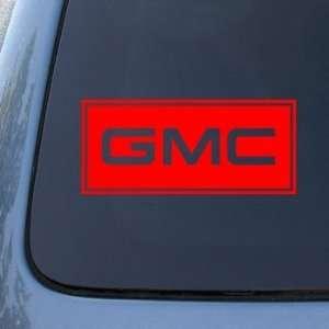 GMC   Vinyl Car Decal Sticker #1775  Vinyl Color Red
