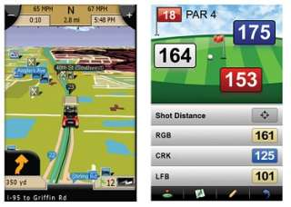 AG 50s Golf GPS Rangefinder & Automotive Navigation AG50 Navigon iGolf