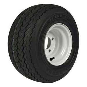 18 X 850 8 Golf Cart Tire & Wheel Assembly, Stone