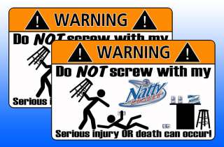 Natty Light Natural Beer Warning Sticker Decal Drink