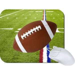 Rikki Knight Football on Red White & Blue Field Mouse Pad