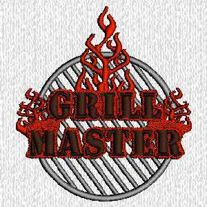 Custom Embroidered Barbecue   Grill Master on Apron