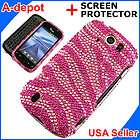 Pink Zebra Bling Case Cover T Mobile myTouch 3G Slide