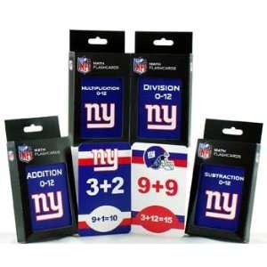 New York Giants Flash Cards   Set of Four Mathematical Flash