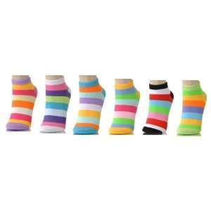 Grope 3 Pack Low Cut Sock   Wide Stripe Sock (Size 6   8