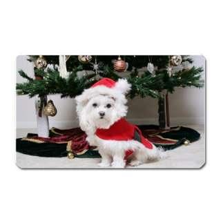 Christmas Santa Puppy Under Tree Large Fridge Magnet