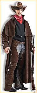 COWBOY duster SET mens western halloween costume M