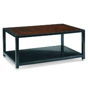 Rectangular Cocktail Table by Sherrill Occasional   CTH   Black & Tan