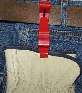GLOVE GUARD / belt clip / holder safety feature colors