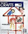 McCalls Craft Pattern 18 Blossom Babies & Wardrobe Soft Sculptured