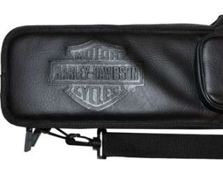 Harley Davidson 4x8 Black Soft Pool/Billiards Cue Case 661154111334