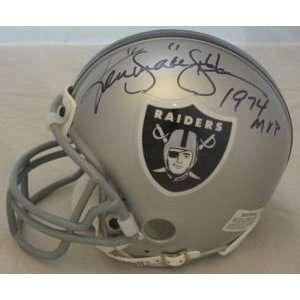 Ken Stabler Oakland Raiders Signed Mini Helmet W/74 Mvp