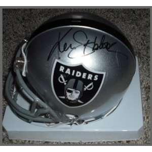 Ken Stabler Autographed/Hand Signed Mini Helmet Sports