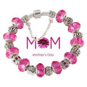 Mothers day gift silver charm Bracelet Shamballa B31 all size