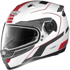 Nolan N85 Vintage Metallic White/Red Full Face Helmet (2XL