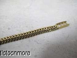 VINTAGE 18k GOLD MONTRES ROLEX 17 RUBIS BRAIDED BAND BRACELET WRIST