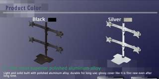 Quadruple Monitor Arm Stand DS4 220 S type/Black ~ 27