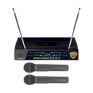 Two Channel VHF Wireless Dual Microphone System   Dual