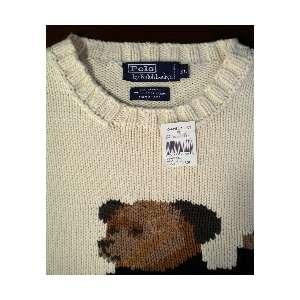 NEW POLO RALPH LAUREN RARE COLLECTIBLE Teddy Bear Knit Crew Neck