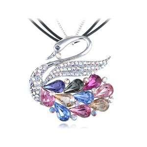 Multicoloured Aurora Borealis Elegance Swan Swarovski Crystal Element