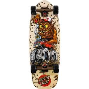 SANTA CRUZ Big Mudder Cruzer Skateboard 9.9 x 28.5 Sports