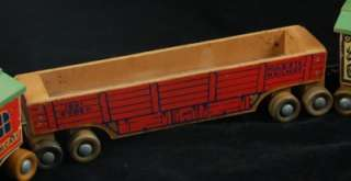 Here we have a Holgate wooden Rodeo Train toy train. Circa 1950s